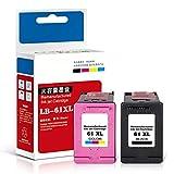 Cartuchos de tinta, mayor capacidad, cartuchos de tinta fáciles de agregar, negro 1000 páginas, color 750 páginas, adecuados para cartuchos de tinta HP61XL adecuados para HP Deskjet 1000 2000 3000