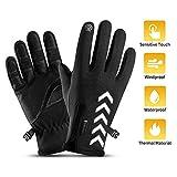 Fahrradhandschuhe , Touchscreen Outdoor Wasserdicht Winddicht Wärmereflexion Kennzeichnung Anti-Rutsch-Vollfinger-Handschuhe Winter Skifahren Klettern Wandern Sporthandschuhe für Männer(L(8.0-9.0in))