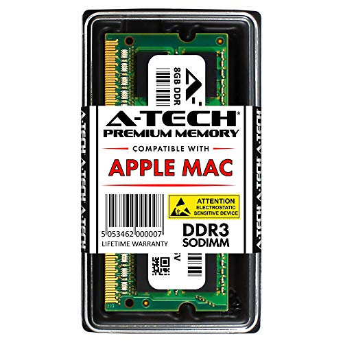 A-Tech 8GB RAM for Apple MacBook Pro Mid 2012 - iMac Late 2012, Early/Late 2013, Late 2014, Mid 2015 - Mac Mini Late 2012 | DDR3 1600MHz PC3-12800 SODIMM Memory Upgrade Module