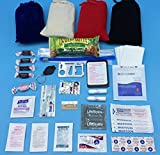 Purse and Pocket Pack - New 35-Piece Mini Survival Kit (Blue Pouch)