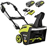 RYOBI RY40860 21 in. 40-Volt Brushless Cordless Electric Snow Blower with Two 5.0 Ah Batteries and Charger Included