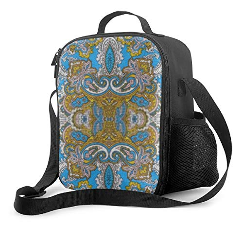 Lunch Box Insulated And Reusable Bold Grungy Islamic Psychedelic Colorful Ornament Lunch Bag Insulated Cooler Organizer