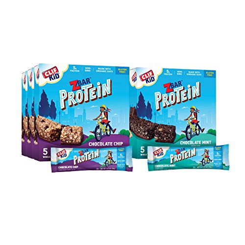 Clif Kid ZBAR- Protein Granola Bars – Value Pack with Stickers- Gluten...