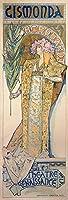 絵画風 壁紙ポスター (はがせるシール式) アルフォンス・ミュシャ ジスモンダ 1894年 サラ・ベルナール アールヌーヴォー キャラクロ K-MCH-028S2 (291mm×855mm) 建築用壁紙+耐候性塗料