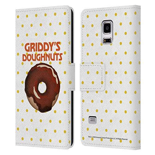 Head Case Designs Ufficiale The Umbrella Academy Cioccolato 2 Griddy's Ciambelle Cover in Pelle a Portafoglio Compatibile con Samsung Galaxy S5 Mini