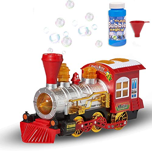 Copper Top Bubble Bump 'n' Go Train con luces Sonidos y acción incluye 2 botellas de solución para hacer burbujas juguete divertido para niños
