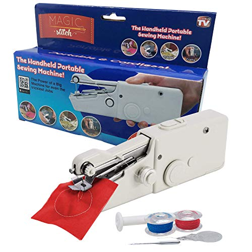 MAGIC STITCH Cordless, Portable, Handheld Sewing Machine, Cordless Electric Stitch Tool, Household sewing device for fabric, clothing, home, travel use.