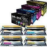 Compatible (4-Pack, K+C+M+Y) DR210CL DR-210CL DR210 Drum Unit Used for HL3040CN 3070CW 9320CW MFC-9010CN 9120CW 9320CW Printer, by EasyPrint