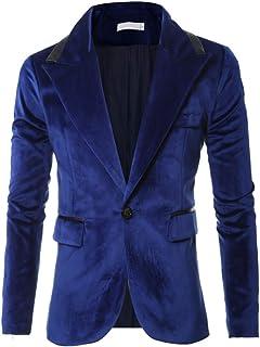 BEIXUNDIANZI Jacket Mens Business Casual Corduroy One Button Blazer Autumn New Vintage Modern Formal Wedding Business Part...
