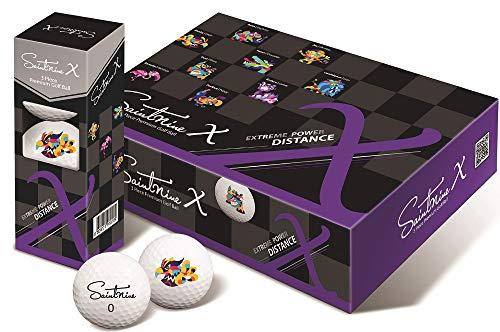 SAINTNINE X Golf Balls, 3 Piece Premium Long Distance Ball (One Dozen) (White)
