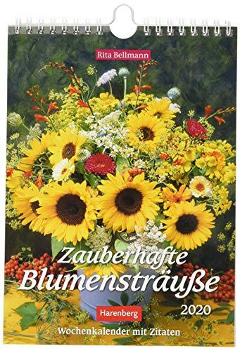 Zauberhafte Blumensträuße Wochenkalender. Wandkalender 2020. Wochenkalendarium. Spiralbindung. Format 16,5 x 23 cm