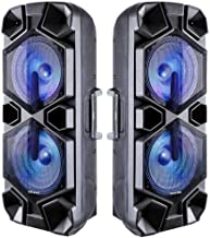 2 Speaker Tower 9200W Dual Woofer Portable Party Speaker - Floor Standing Stereo Bluetooth & LED Disco Light - Wireless PA...