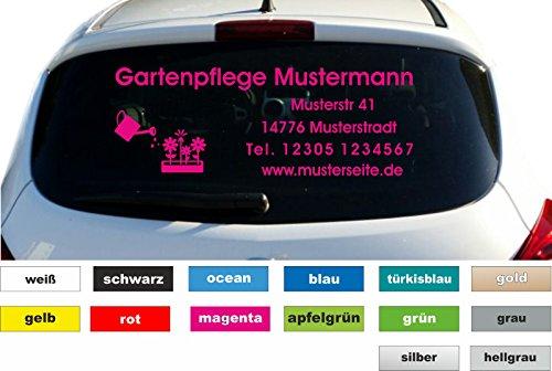 Don Cappello Garten Bäume Werbung Autobeschriftung Aufkleber Heckscheibe KFZ Fahrzeug B. 80cm