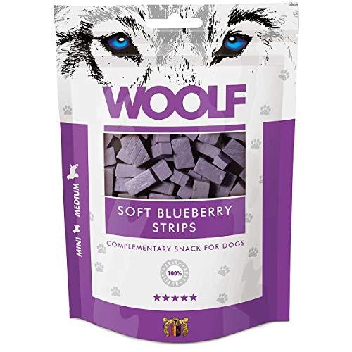 WOOLF lanières de poulet et les bleuets 100g - Snacks pour chien