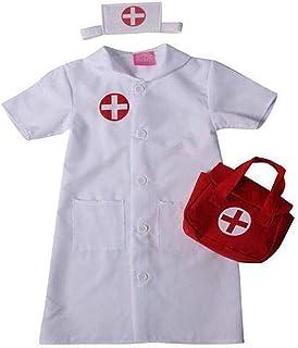ست لباس مجلسی پرستار طبی کودکان سفید - لباس