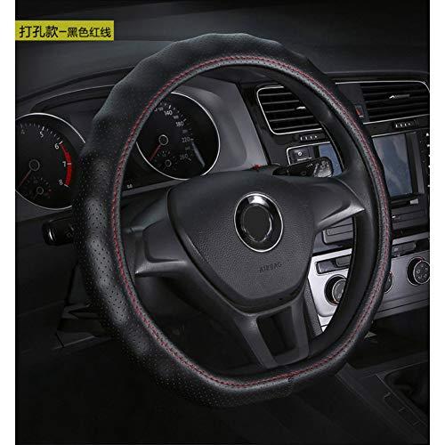 ZXPT Auto Lenkrad D Ring Leder Abdeckung Für Volkswagen Vw Golf 7 GTI Mk7 Scirocco Polo Tiguan Käfer Audi Tt Rs-3 Cayman