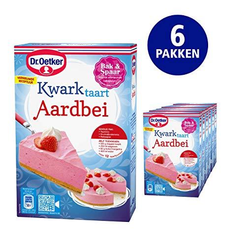 Dr. Oetker Dr. Oetker Kwarktaart Aardbei bakmix voor 12 punten (6x420 g)