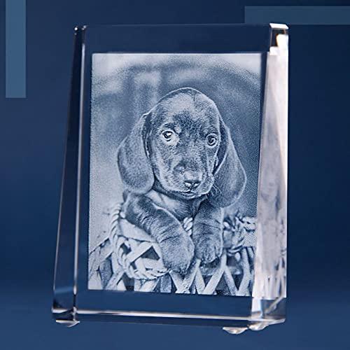 Isonio Glasfoto - Ihr eigenes Foto in Viamant Glas gelasert - Foto im Kristallglas als Fotogeschenk (Größe S Hochformat 60 x 80 x 25mm)