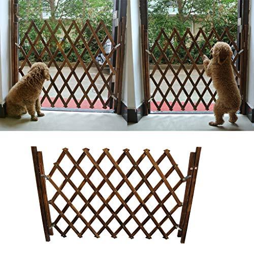 Sanyue Grille de protection extensible pour animaux de compagnie, barrière de sécurité pour portes de maison, escaliers, cuisine, couloir, balcon S