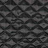 Steppstoff uni schwarz - Preis gilt für 0,5 Meter