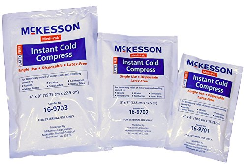McKesson 16-9701 Medi-Pak Instant Cold Compress, 4