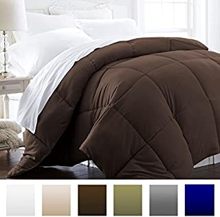 Beckham Hotel Collection 1600 Series - Lightweight - Luxury Goose Down Alternative Comforter - Hotel Quality Comforter and Hypoallergenic - King/Cali King - Brown