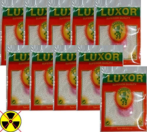 Luxor Lot de 10 chaussettes à incandescence pour Petromax HK500 HK350 HK250 HK150 et autres lampes à pétrole HK500 (1 trou – 400/600 CP)