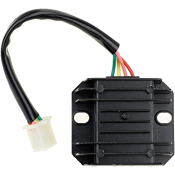 GOOFIT 4 Pin Voltage Regulator Rectifier GY6 50cc 60cc 80cc 125cc 150cc Chinese Moped Scooter ATV