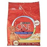 PURINA ONE Medium Maxi  10 kg - Croquettes au poulet avec du riz - Pour chien adulte - 2.5 kg