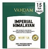 Té blanco ecologico del Himalaya imperial 15 Bolsitas de té, pirámide de hoja larga Bol...