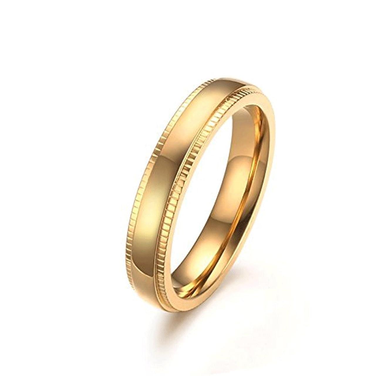 性的論争泥沼AIKS ジュエリー ブランド ファッション リング ピンクゴールド メンズ イニシャル 指輪 17号