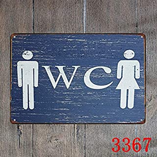 Restroom Sign WC Metal Signs Wall Poster Plaque Mural Painting Antique Vintage bar Pub Decor
