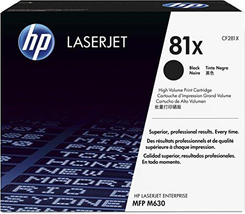 HP 81X (CF281X) Schwarz Original Toner mit hoher Reichweite für HP Laserjet Enterprise M605d, M606, Flow M630