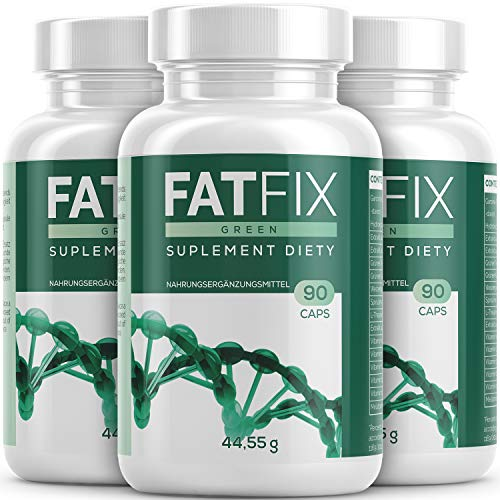 FatFix Kapseln - Maxi-Pack - mit 90 Kapseln | Fburner mit Garcinia Cambogia Extrakt - Fitness Sommer Aktion Keto (3 Dosen)