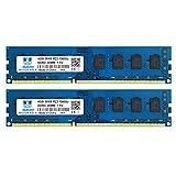 Motoeagle 8GB Kit (2X4GB) DDR3 1333MHz DIMM PC3-10600 PC3-10600U 2RX8 CL9 1.5V 240-Pin Non-ECC Unbuffered Desktop Memory RAM Module Compatible with Intel AMD System