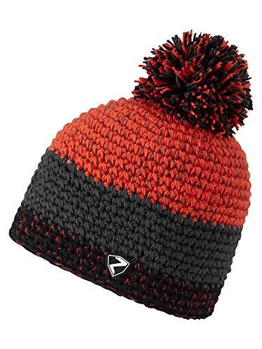 Ziener Erwachsene INTERCONTINENTAL hat Bommel-mütze/ warm, gehäkelt, New red, Usex