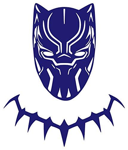 Black Panther Vinyl Sticker Decals for Car Bumper Window Laptop Tablet Phone (6' x 5.1', Purple)