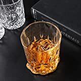KANARS 4er Set Whisky Gläser, Bleifrei Kristallgläser, Whiskey Glas, 300ml, Schöne Geschenk Box, Hochwertig - 7