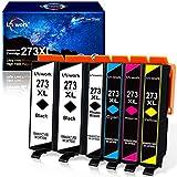 Uniwork Remanufactured Ink Cartridge Replacement for Epson 273XL 273 XL T273XL use for XP820 XP810 XP800 XP620 XP610 XP600 XP520 Printer (2 Black, 1 Photo Black, 1 Cyan, 1 Magenta, 1 Yellow), 6 Pack