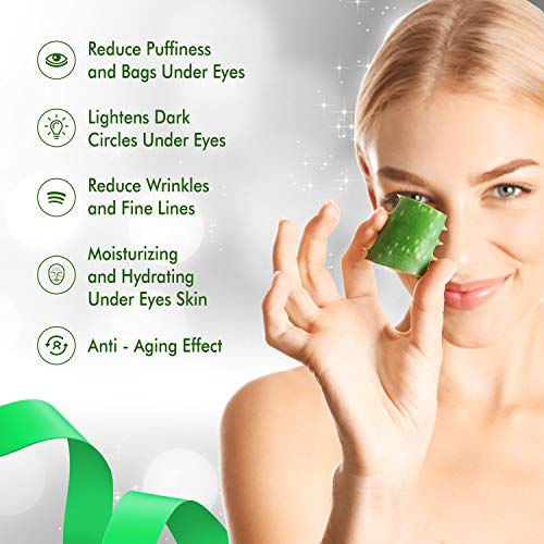 51UHGwGj7PL - Aloe Vera Eye Treatment Mask (30 Pairs) Reduces Puffiness, Wrinkles, Puffy and Bags Under Eyes, Lightens Dark Circles, Undereye Patches Moisturizes and Anti Aging Skin, Hydrogel Pads with Collagen
