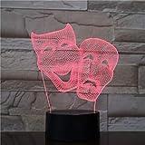 Wildes Nachtlicht der Halloween-Maske mit Einer Vielzahl der Farbnoten-Fernsteuerungsillusion