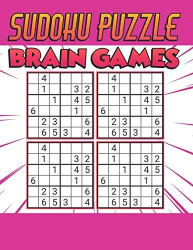Sudoku Puzzle Brain Games: 500 PUZZLES SUDOKU WITH SOLUTION - Ultimate Challenge Collection of Sudoku Problems - Best Sudoku Puzzle Book For Kids ( Dark Pink )