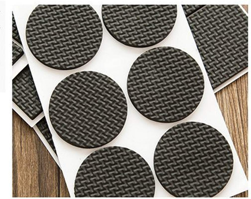 VNDEFUL 24 Pcs Anti Skid Self Stick Rubber Furniture Protection Pads Noise Dampening Bumper Buffer Pads Round Shape