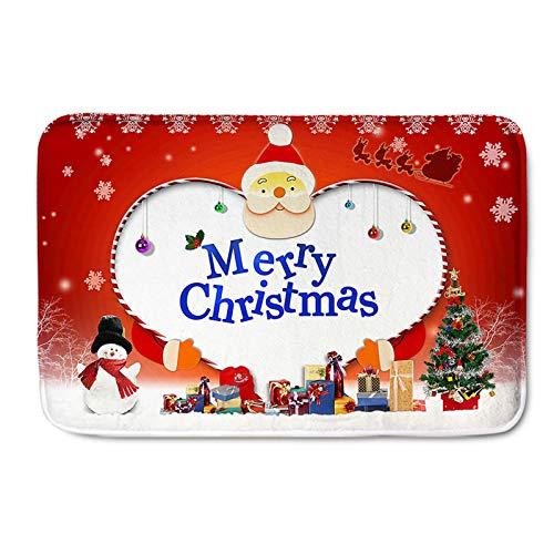 Lee My Alfombra de muñeco de Nieve alfombras de árbol de Navidad Alfombra de decoración de Navidad de Santa Claus para el hogar, Oficina, Dormitorio,Merry Christmas,120 * 160cm