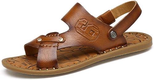 chaussuresDQ Chaussures de Plage extérieures antidérapantes et de Loisirs pour Hommes avec Chaussons Cool