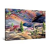 Startonight Cuadro Moderno en Lienzo Abetos en Marte, Pintura Abstracta para Salon Decoración 60 x 90 cm