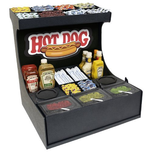 "Condiment Organizer Convenience Store Professional Serving Station 21""w X 21""d X 22""h."
