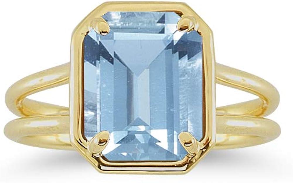 Studs 開店記念セール Galore Natural Gemstones 10x8 Emerald Rin Solitaire Cut mm 今ダケ送料無料