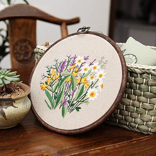 DWWW Starter Kit Sneeuwman Bloem Borduurwerk Kruis Naaien Gereedschap Set DIY Cross Stitch Serie Kunst Ambachten Naaien Decoratie (H02)
