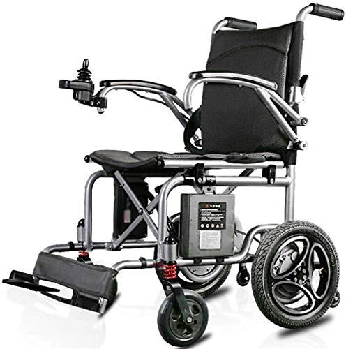 CLOTHES Leichte Elektrische Rollstühle, Elektrisch angetriebener Rollstuhl Folding Leichte 16kg, Sitzbreite 40 cm, Mobilität Stuhl, motorisierte Rollstühle, Gewicht Kapazität 100kg